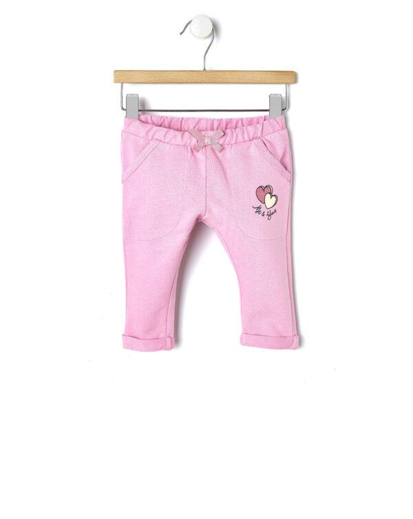 "Pantalone in felpa rosa ""Me & You"" - Prénatal"