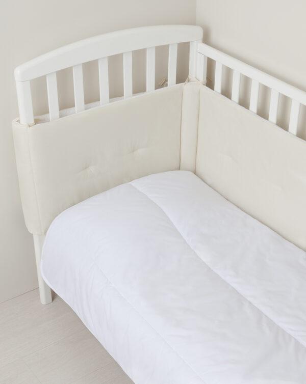 Paracolpi letto in tessuto bicolore panna e beige - Prénatal