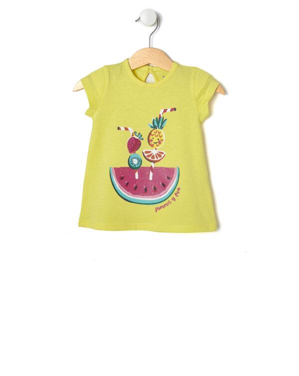 T-shirt gialla in jersey con fetta di anguria - Prénatal