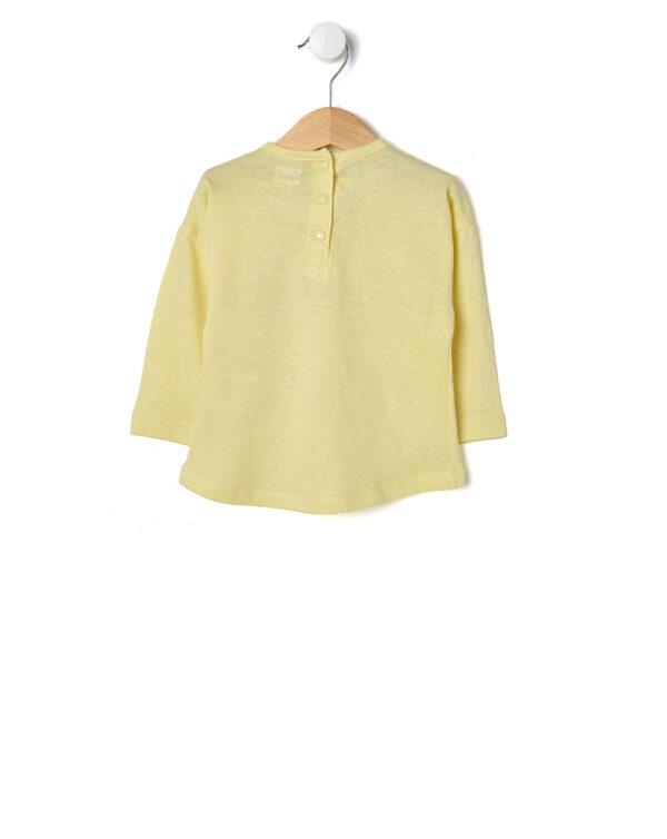 T-shirt gialla con scritta colorata - Prénatal