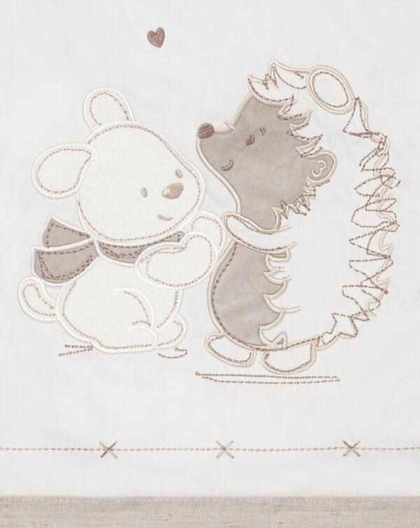 Trapunta invernale con riccio e coniglietto - Prénatal