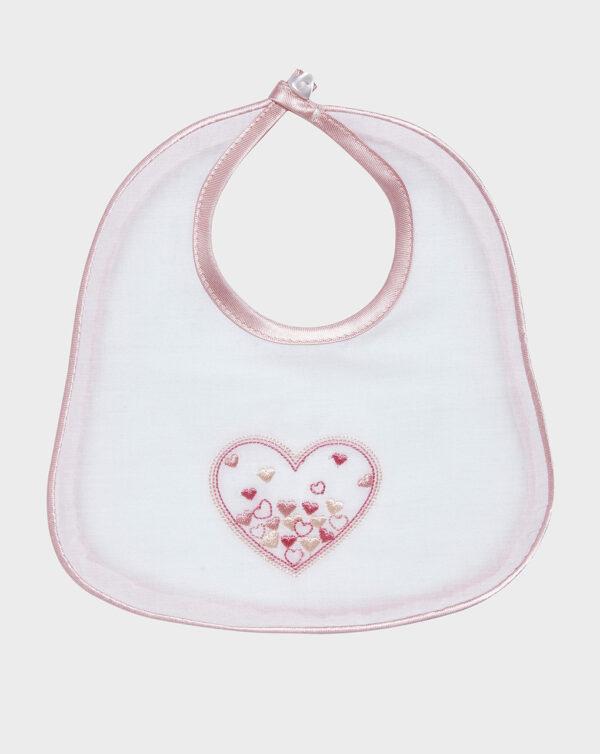 Bavaglino mussola con cuore rosa - Prénatal