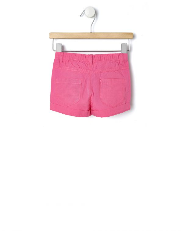 Pantaloncini in popeline fucsia - Prénatal