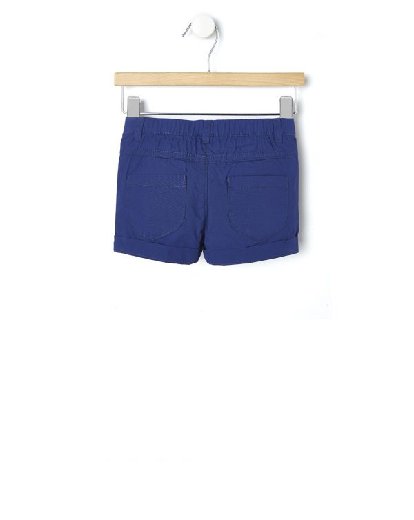 Pantaloncini in popeline blu scuro - Prénatal