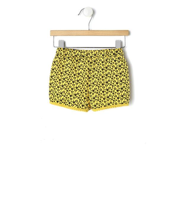 Shorts giallo effetto maculato - Prénatal