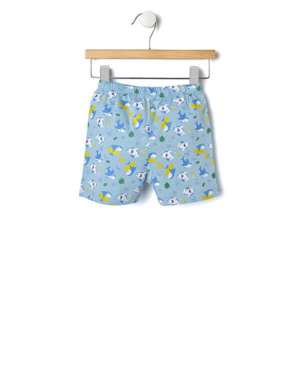Pigiama 2 pezzi t-shirt giallo con squalo - Prénatal
