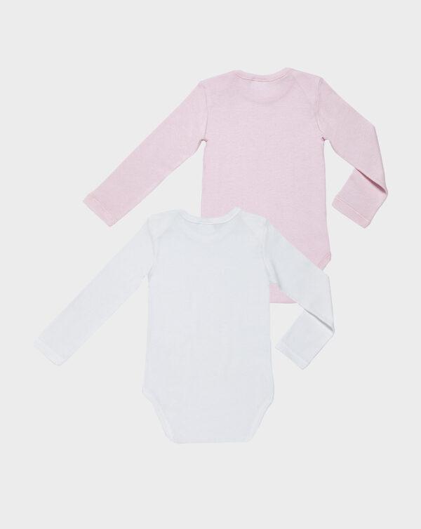 Pack 2 body bianco e rosa scollo americano - Prénatal