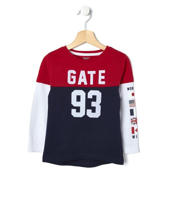 T-shirt con maniche finte doppie - Prénatal