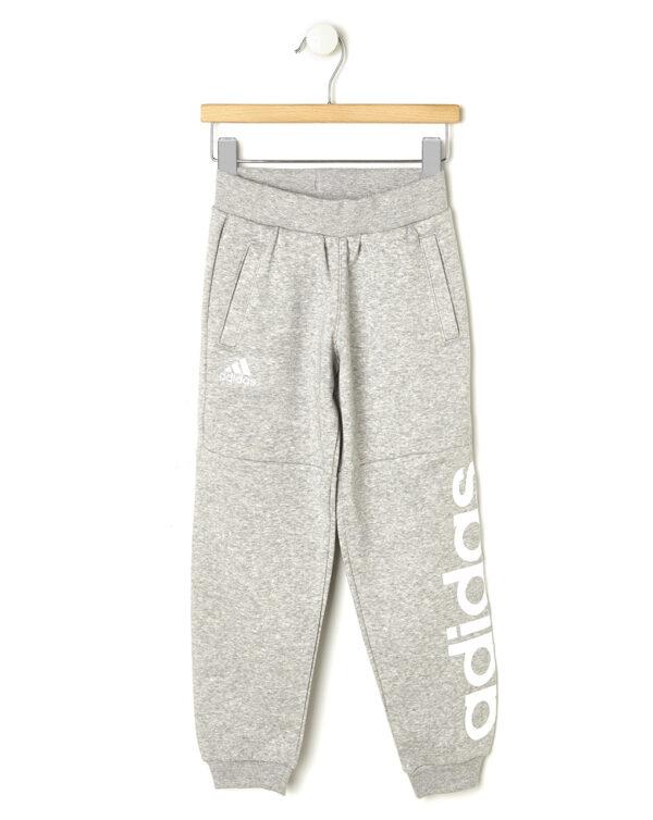 Pantaloni Adidas in felpa grigio mélange - ADIDAS