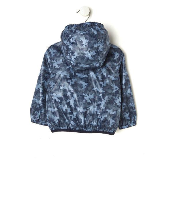 Antivento con stampa camouflage foderato in rete blu - Prénatal