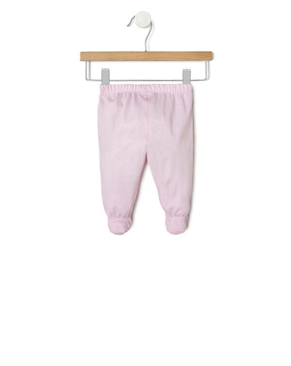Completo con maglia con cuore rosa e ghette rosa - Prénatal