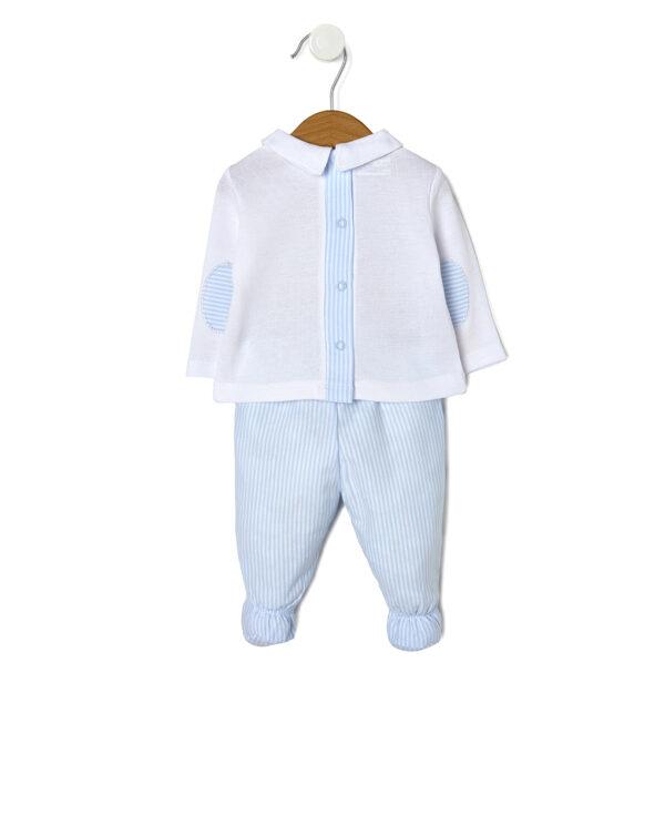 Completo maglia bianca con animaletti e ghette - Prénatal