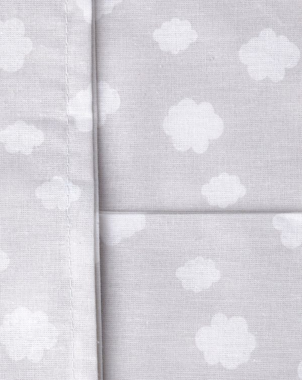Papure per culla 2 pezzi grigio a pois e nuvole - Prénatal