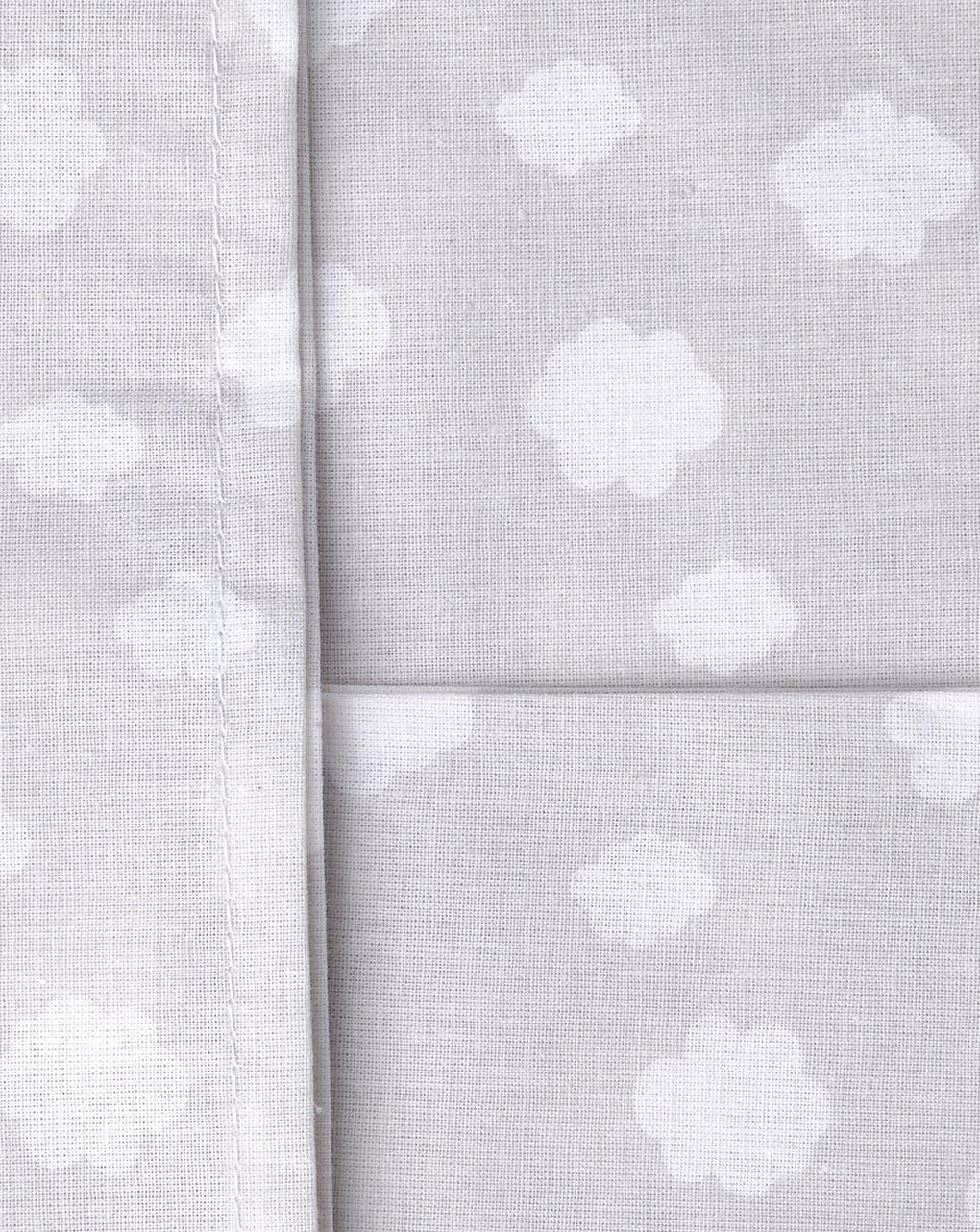Culla/carrozzina - papure per culla 2 pezzi grigio a pois e nuvole - Prénatal