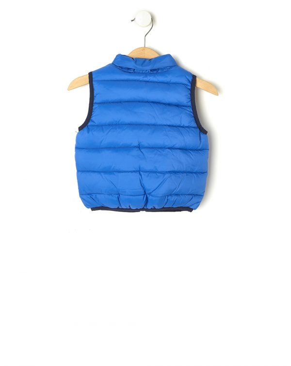 Gilet in nylon blu con tasche - Prénatal