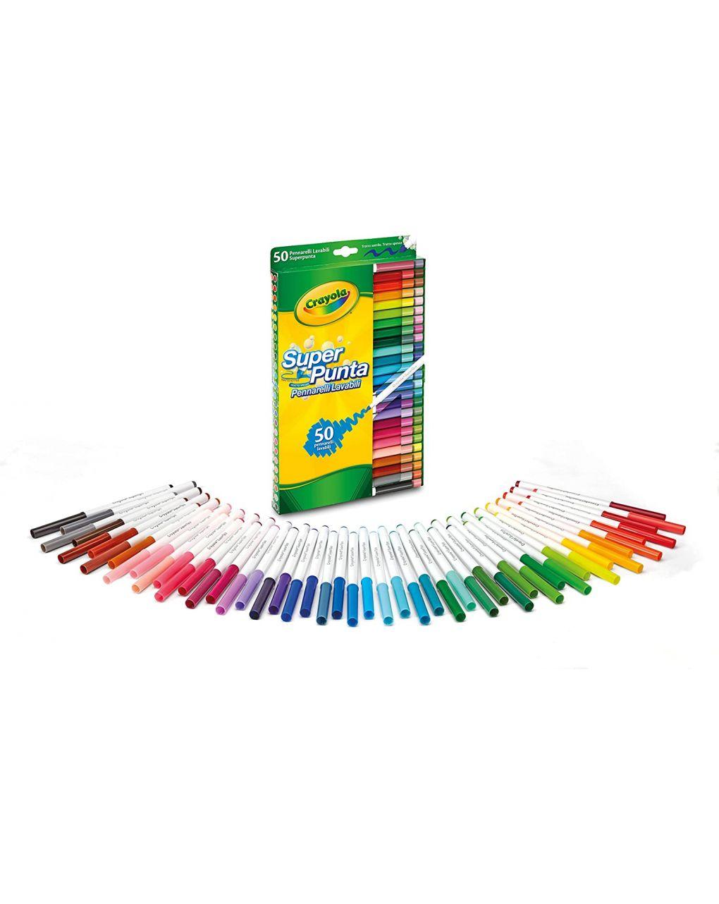 Crayola - 50 pennarelli superpunta lavabili - Crayola