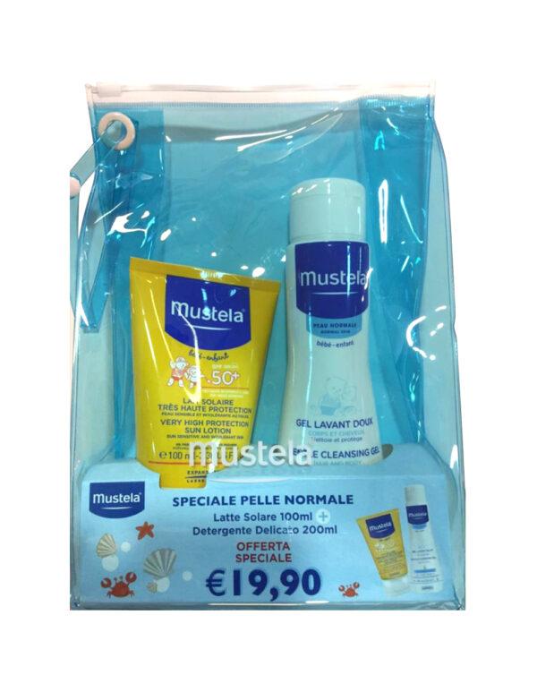 Pochette latte solare e detergente - Mustela