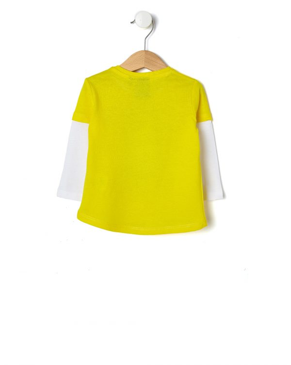 T-shirt finta doppia con stampa Smiley - Prénatal