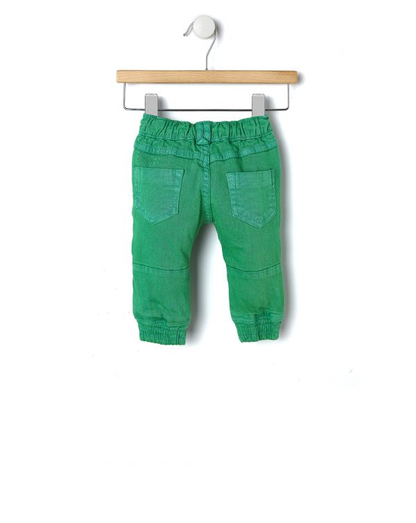Jeans verdi con elastico alle caviglie - Prénatal