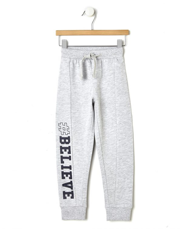Pantalone in felpa grigio con stampa laterale - Prénatal