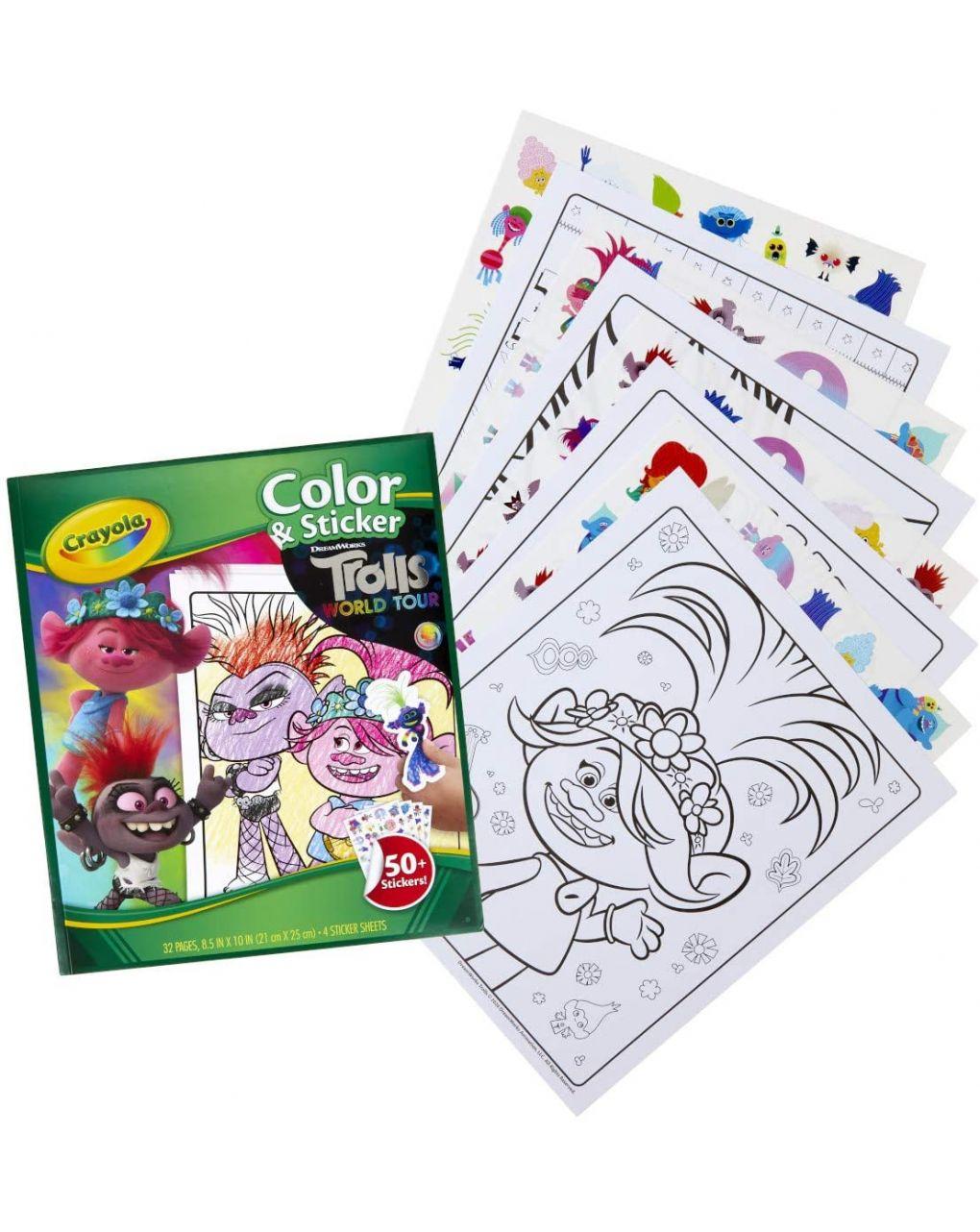 Crayola - album ass.to con adesivi - Crayola