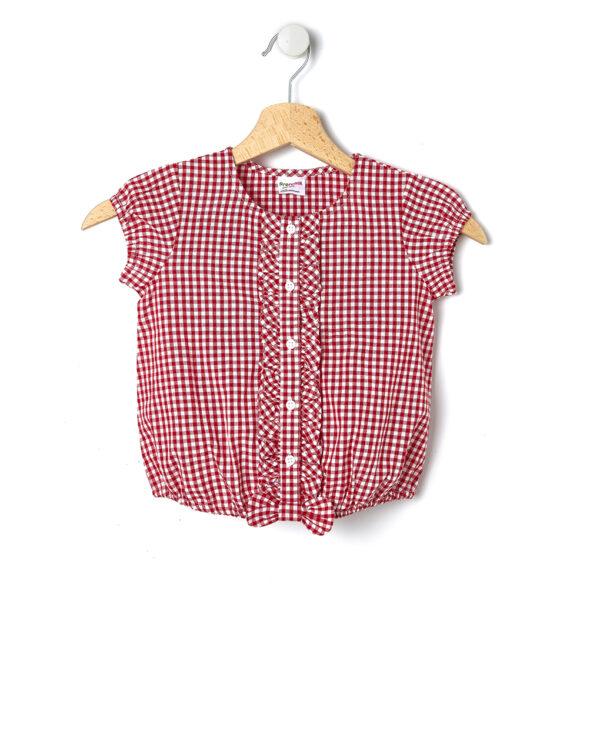 Camicia con stampa vichy rossa - Prénatal