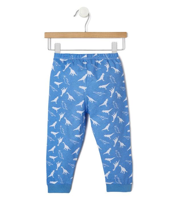 Pigiama 2 pezzi grigio e azzurro con dinosauri - Prénatal