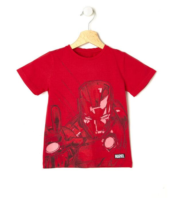 T-shirt rossa con Iron Man - Prénatal