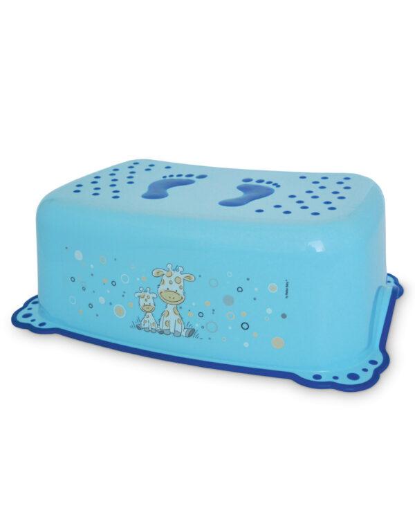 Taburete baño jirafa - azul - Giordani