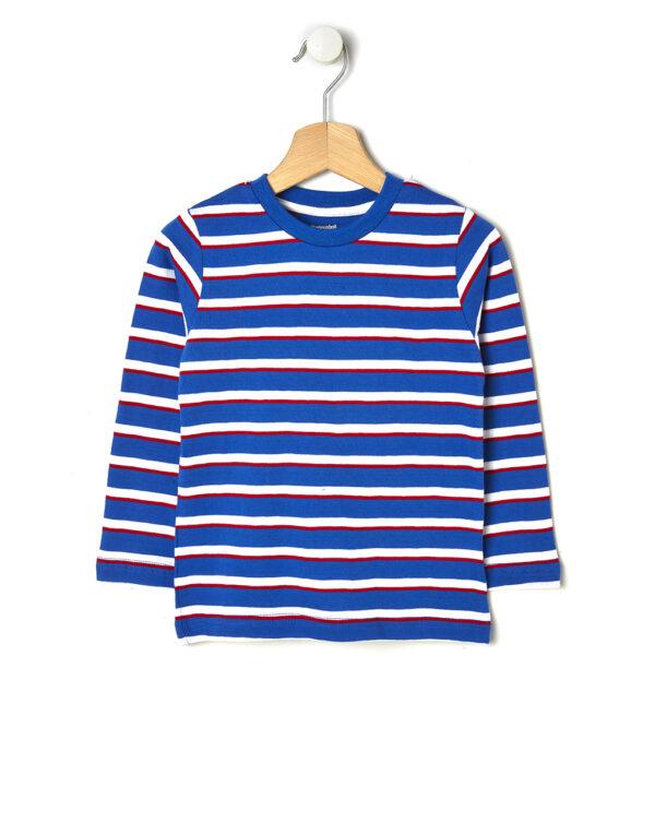 T-shirt a righe blu, bianche e rosse - Prénatal