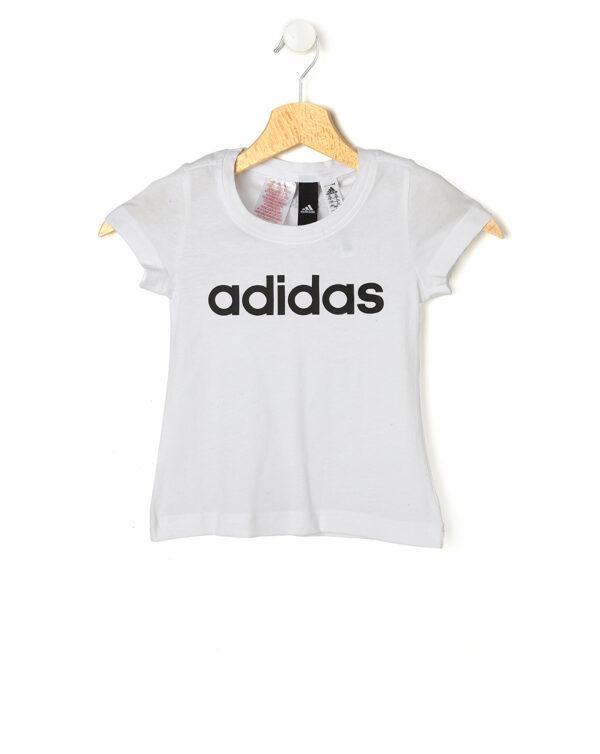 T-shirt bianca con Adidas in nero - Prénatal