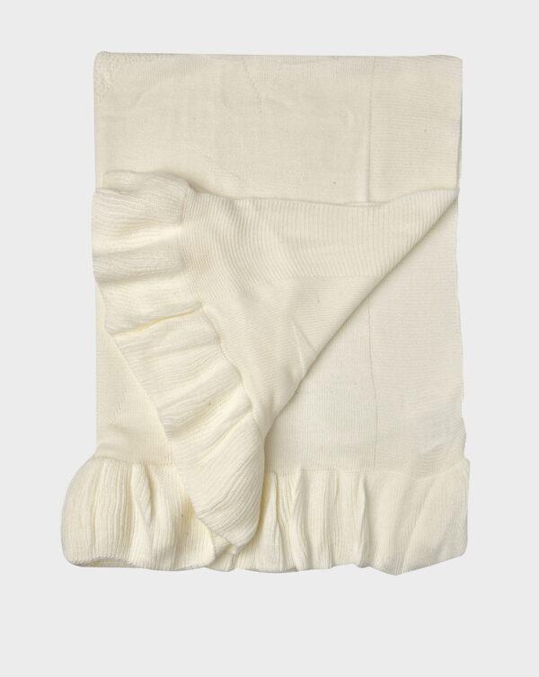Scialle in tricot bianco con stelle - Prénatal