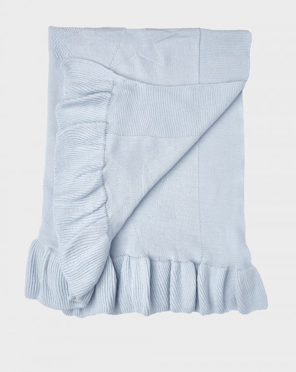 Scialle in tricot celeste con stelle - Prénatal