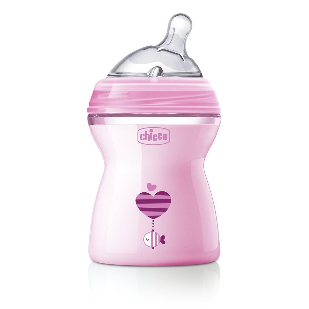 Biberon natural feeling 2m+ rosa - Chicco