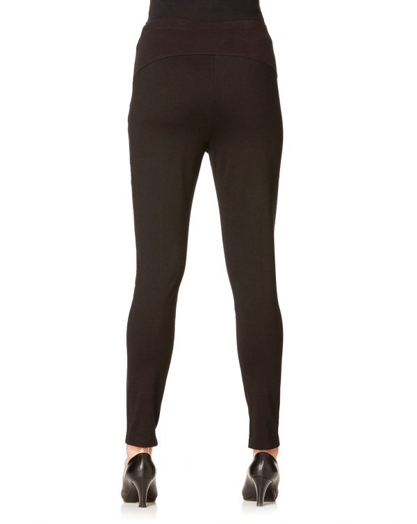 Leggings neri con inserti in simil pelle - Prénatal