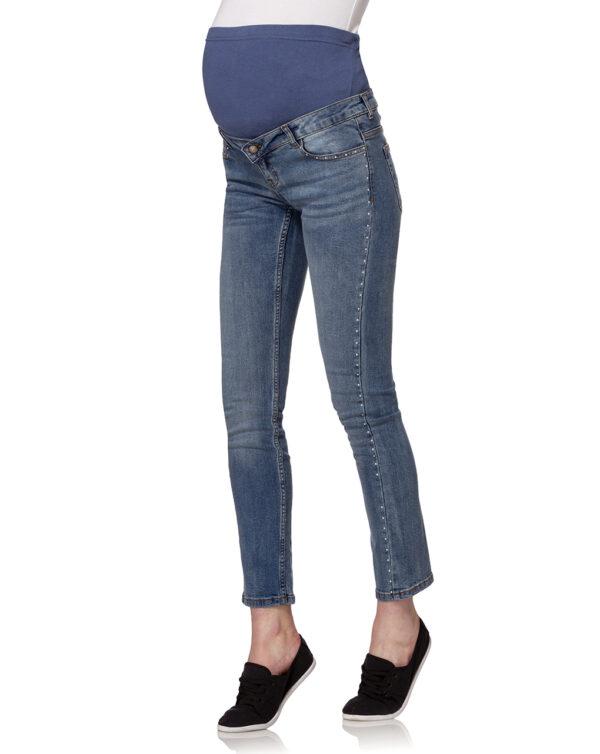 Pantaloni in denim blu chiaro con borchie - Prénatal
