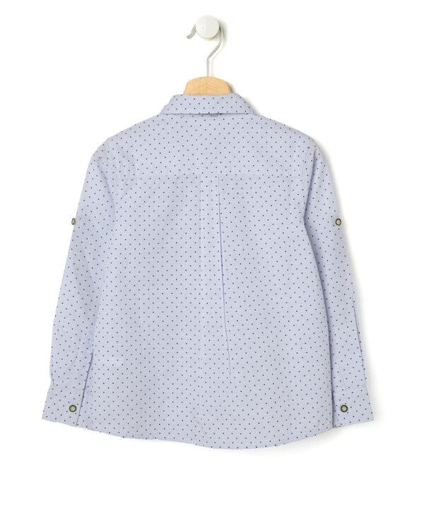 Camicia azzurra a pois con farfallino - Prénatal
