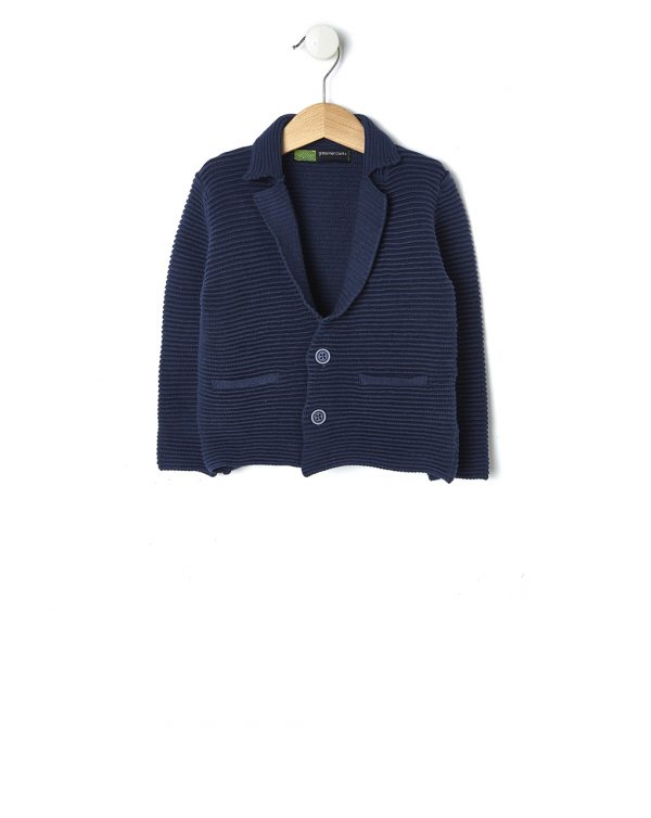 Giacca in tricot blu con lavorazione a rilievo - Prénatal