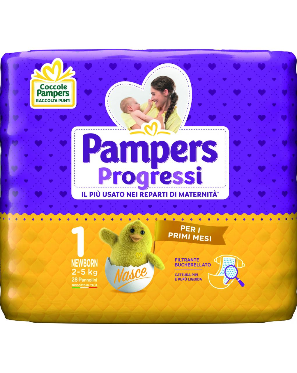 Pampers - pannolino progressi tg. 1 (28 pz) - Pampers