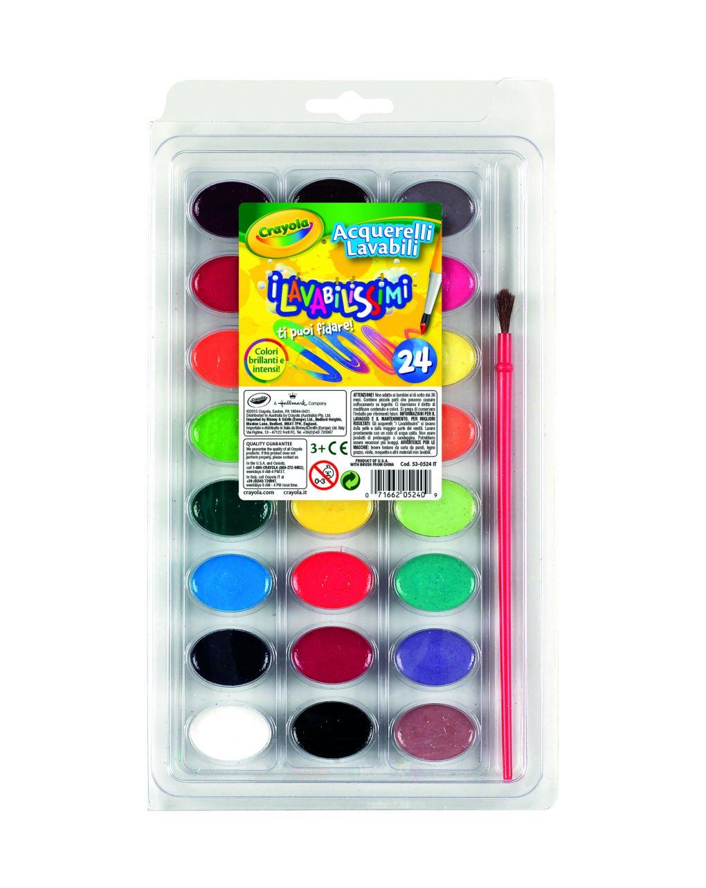 Crayola - 24 acquerelli lavabili - Crayola