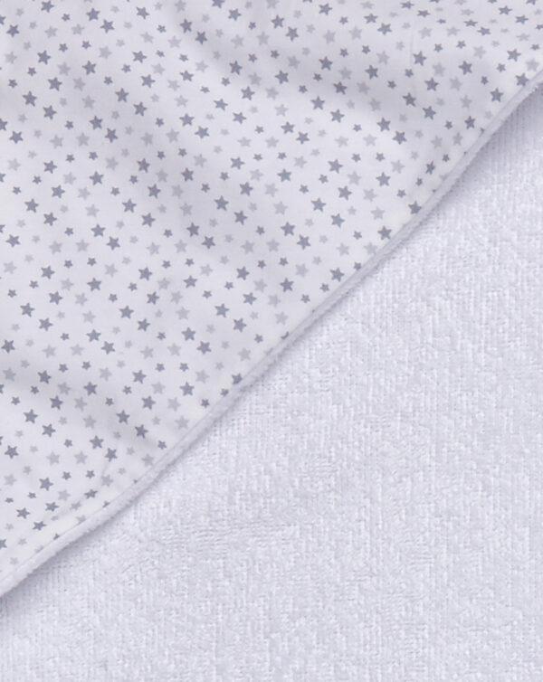 Accappatoio in spugna bianca e stelline - Prénatal