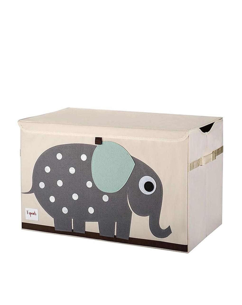 Baule porta giochi con elefante - 3 sprouts