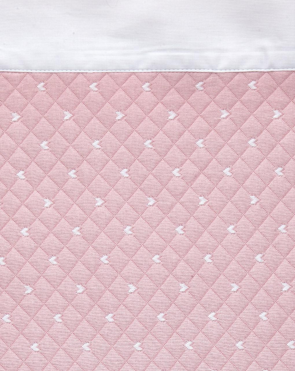 Letto - coperta letto estiva rosa con bordo bianco - Prénatal