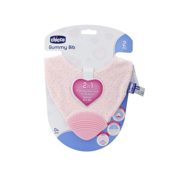 TEETHER GUMMY BIB GIRL - Chicco