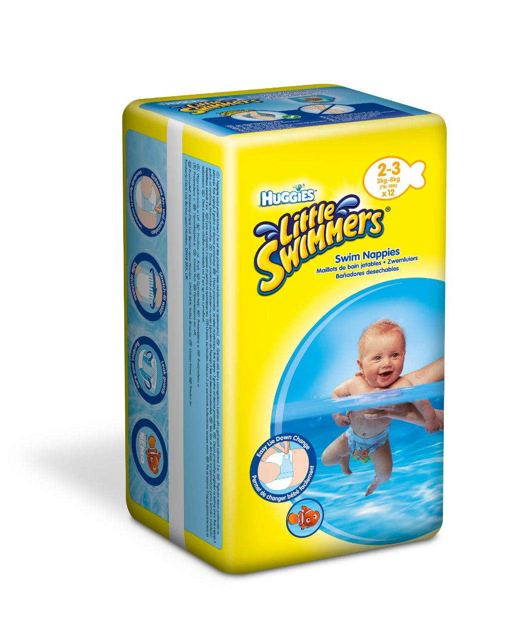 Little swimmers small (3-8 kg) - Huggies