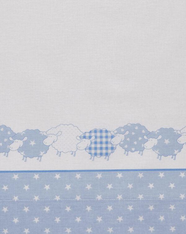 Completo per culla e carrozzina con pecorelle azzurre - Prénatal