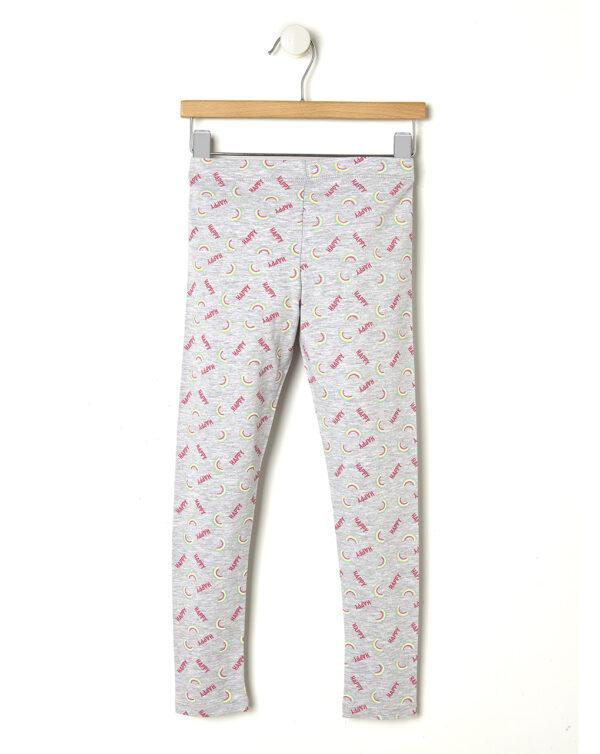 Leggings grigio chiaro con stampa Happy - Prénatal