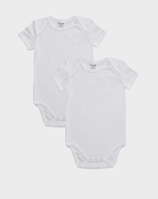 Pack 2 body in cotone bianco con scollo americano - Prénatal