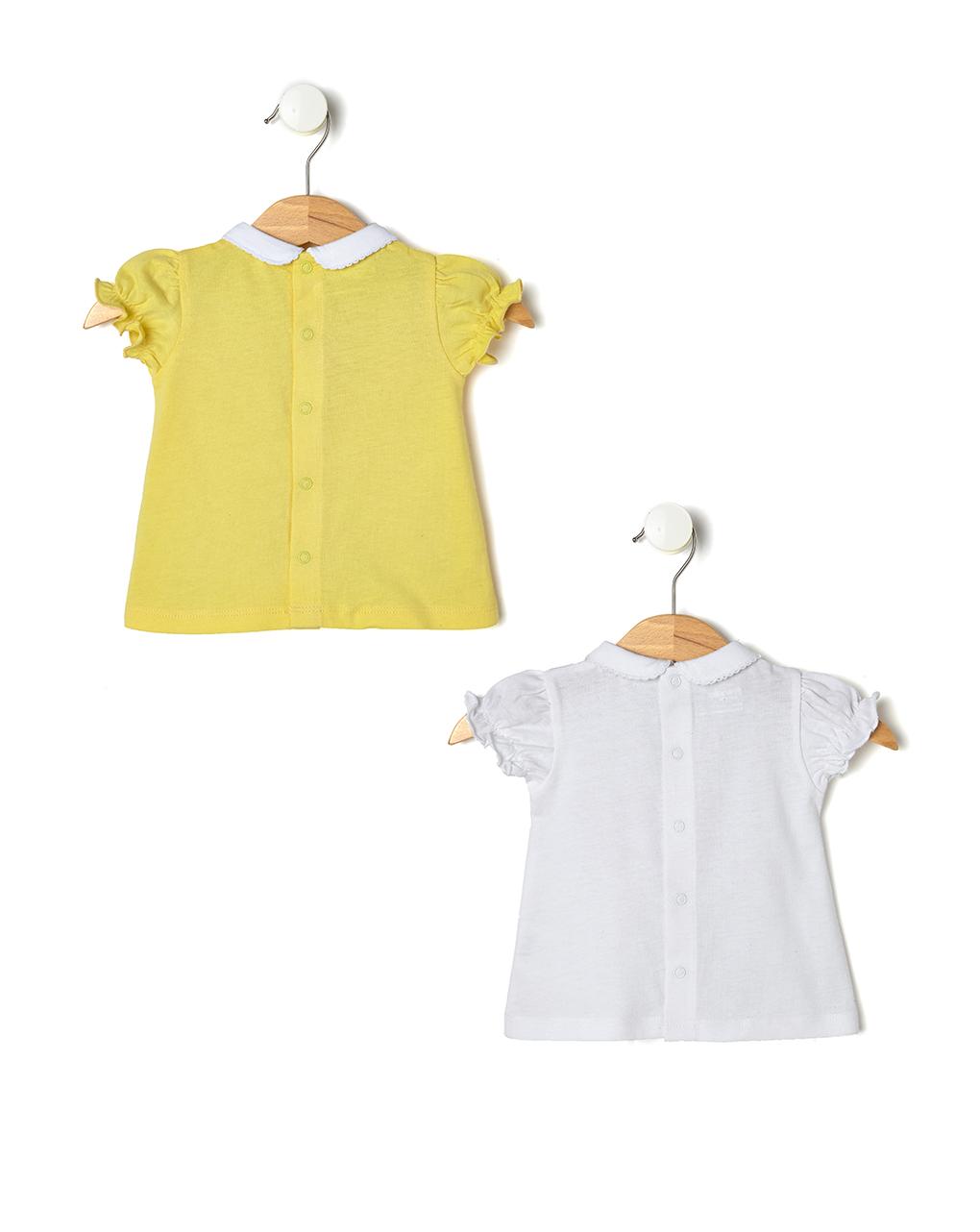 d05958368b67 Pack 2 t-shirt con maniche arricciate e colletto - NEONATO 0-36 ...