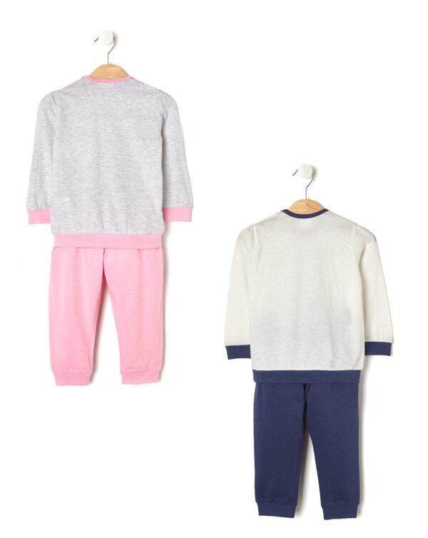 Pack 2 pigiami con principessa e corona - Prénatal